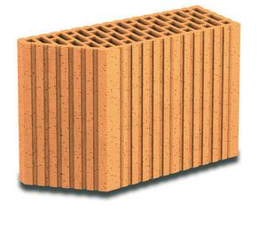 Brique terre cuite avec angle 135° POROTHERM R37 ép.37,5cm haut.24,9cm long.12,5cm - Gedimat.fr