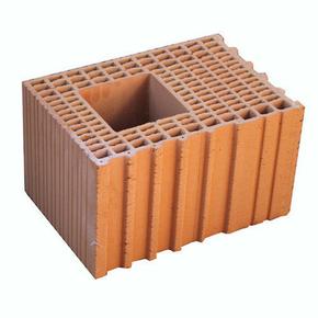 Brique terre cuite poteau POROTHERM R30 ép.30cm haut.24,9cm long.42,5cm - Gedimat.fr