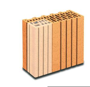Brique terre cuite demi-tableau POROTHERM R30 ép.30cm haut.24,9cm long.12,5cm - Gedimat.fr