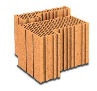 Brique terre cuite feuillure + demi-feuillure POROTHERM R30 ép.30cm haut.24,9cm long.31,4cm - Gedimat.fr
