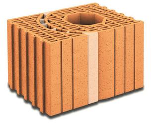 Brique terre cuite poteau multi-angles POROTHERM R30 ép.30cmhaut.24,9cm long.42,5cm - Gedimat.fr
