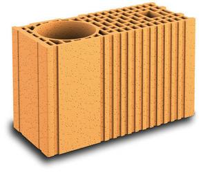 Brique terre cuite poteau POROTHERM R20 ép.20cm haut.24,9cm long.45cm - Gedimat.fr