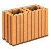 Brique terre cuite A BANCHER R17,5 ép.17,5cm haut.24,9cm long.37,3cm - Gedimat.fr