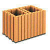Brique terre cuite A BANCHER R17,5 ép.24cm haut.24,9cm long.37,3cm - Gedimat.fr