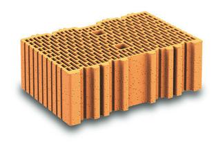 Brique terre cuite arase POROTHERM R37 ép.37,5cm haut.12,4cm long.25cm - Gedimat.fr