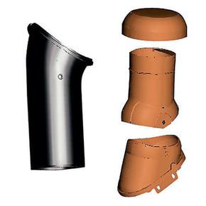 Kit ventilation active durovent avec lanterne 3 parties - Tuile a douille vmc ...