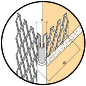 Protège-angle sortant en acier galvanisé déployé avec jonction PVC 317 ocre long.3m - Gedimat.fr