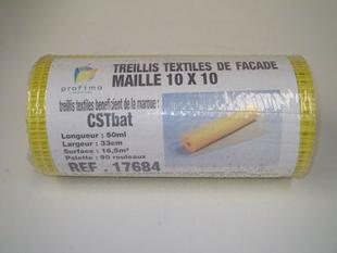 Treillis fibre maille 10x10mm CST BAT 140 g/m2 rouleau larg.33cm long.50m - Gedimat.fr