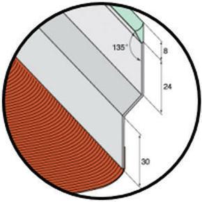 Solin joint mastic nuance sable avec bavette 20cm en plomb plissé rouge vieilli long.2m - Gedimat.fr