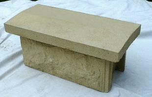 chaperon de muret 2 pentes p 5 5 coloris ton pierre. Black Bedroom Furniture Sets. Home Design Ideas