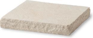 Chapeau de pilier plat LLICORELLA dim.40x40cm ép.6 cm ton pierre - Gedimat.fr