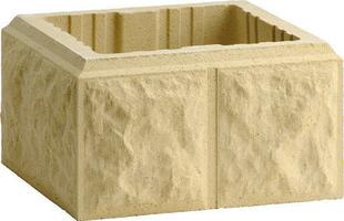 El ment de pilier bossel coloris ton pierre - Element de pilier 40x40 ...