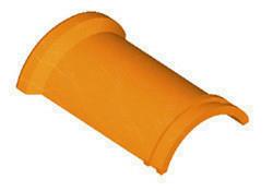 Faîtière ronde ventiléee à emboîtement et bourrelet pour tuiles TERREAL coloris flammé languedoc - Gedimat.fr