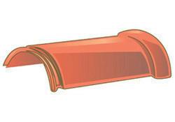 Faîtière ronde ventiléee à emboîtement (section ventilation 10cm²) pour tuiles TERREAL coloris rouge flammé - Gedimat.fr