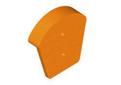 Fronton de faîtière ronde ventilée à emboîtement ou à bourrelet TERREAL coloris castelviel - Gedimat.fr