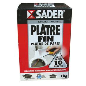 Plâtre fin boîte cartion 1kg - Gedimat.fr