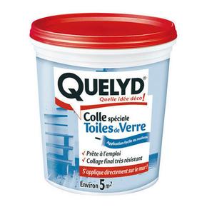 Colle pour toile de verre en pâte pot 1kg - Gedimat.fr