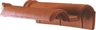 tuile de rive rabat droite recouvrement romane sans coloris rouge