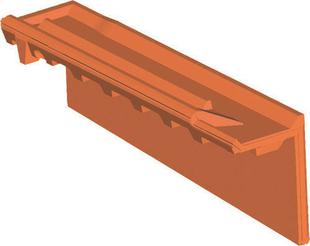 Rive individuelle verticale à emboîtement droite grand rabat coloris terroir - Gedimat.fr
