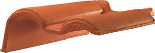 Tuile de rive à rabat gauche à recouvrement MERIDIONALE POUDENX coloris rouge - Gedimat.fr