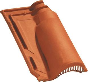 Tuile de ventilation MERIDIONALE + grille coloris brun - Gedimat.fr