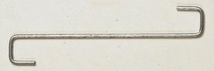 Crochets pour tuiles CANAL longueur 170mm - boite de 100 pièces - Gedimat.fr