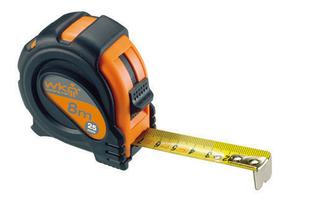 Mesure PVC larg.25mm long.8m noir/orange - Gedimat.fr