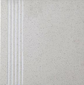 Plat de marche carrelage pour sol en grès cérame pleine masse DOTTI dim.30x30cm coloris ivory - Gedimat.fr