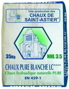 Chaux pure blanche LC **** NHL 3,5 sac 35kg - Gedimat.fr