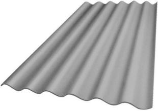 Plaque ondulée fibre-ciment 5 ondes PLAKFORT long.1,75m larg.0,918m teinte naturell - Gedimat.fr