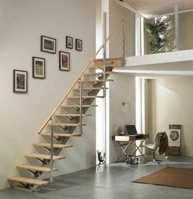 Pin escalier pas japonais zen droit en bois et m tal 11 for Escalier japonais lapeyre