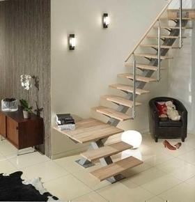 escalier mono poutre h tre brut hudson 1 4 tournant haut 2 75m sans rampe. Black Bedroom Furniture Sets. Home Design Ideas