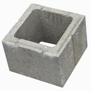 Elément de pilier béton gris dim.ext.27x27cm haut.19cm - Gedimat.fr