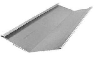 Noue à pinces zinc naturel développé 250mm long.2m - Gedimat.fr