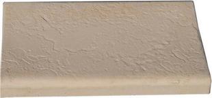 Margelle droite DELPHINE en pierre reconstituée aspect pierre d'ardoise ép.27/56mmm larg.32cm long.50cm coloris Lubéron - Gedimat.fr
