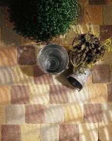 Pavé CAROSTYLE en béton ép.4cm dim.10,3x10,3cm coloris pierre - Gedimat.fr