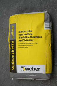 Enduit WEBER.THERM collage ITE sac 25kg - Gedimat.fr