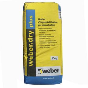 mortier d 39 imperm abilisation weber dry plus sac de 25kg gris. Black Bedroom Furniture Sets. Home Design Ideas