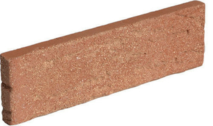 Plaquette de parement en terre cuite long.21,5cm haut.6,5cm ép.2,5cm ligne structurée coloris Pin - Gedimat.fr