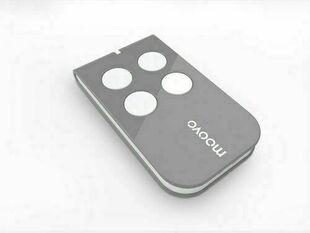 Télécommande coloris gris MOOVO 4 canaux pour motorisation de portails MOOVO - Gedimat.fr