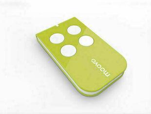 Télécommande coloris vert MOOVO 4 canaux pour motorisation de portails MOOVO - Gedimat.fr