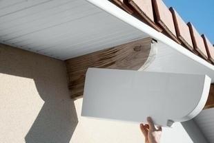 Protège panne en PVC ép.90mm haut.250mm long.600mm HT blanc - Gedimat.fr