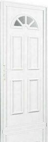 Porte d'entrée PVC GALLUS droite poussant haut.2,00m larg.80cm blanc - Gedimat.fr