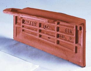 Rive individuelle gauche à emboîtement ARBOISE ECAILLE/RECTANGULAIRE coloris rouge - Gedimat.fr