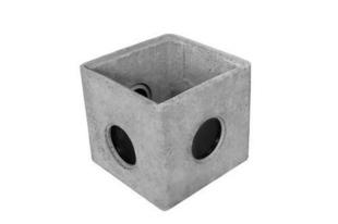 Regard béton RMJ40 avec joints incorporés et opercules int.40x40x30cm ext.47x47x33cm - Gedimat.fr