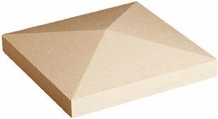 Chapeau de pilier pointe de diamant dim.50x50cm ép.10cm ton beige - Gedimat.fr