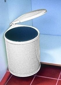 Poubelle ronde 13l acier laqu blanc - Poubelle cuisine de porte ...