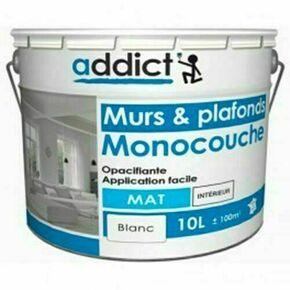 Peinture monocouche mat acrylique blanc 10L - Gedimat.fr