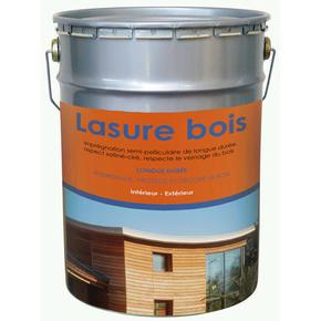 Lasure bois intérieur/extérieur phase solvant semi-pelliculaire aspect satiné ciré chêne clair 5L - Gedimat.fr
