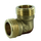 Coude laiton brut mâle à visser réf.92 diam.20x27mm 1 pièce sous coque - Gedimat.fr